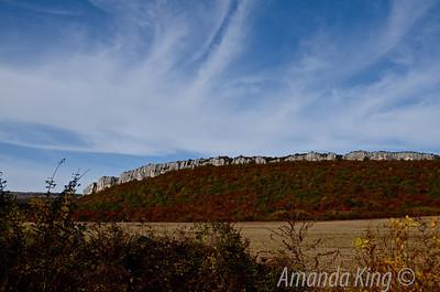 Rock formations make for an interesting landscape