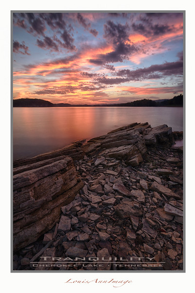 Sunset - Cherokee Lake, Eastern Tennessee - Poster Format available up to 20x30