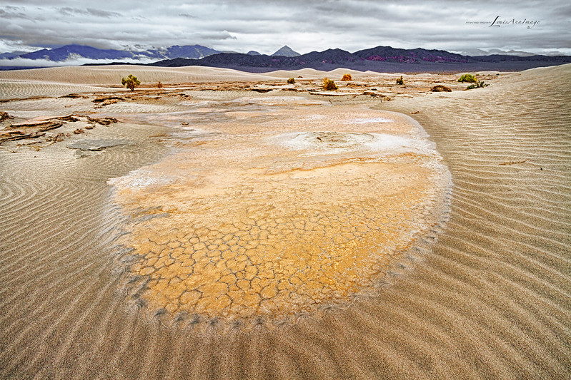 Circle of Sand...<br /> After the storm ~ Mesquite Dunes, Death Valley National Park, California