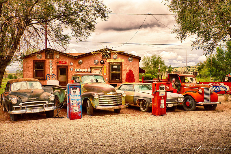 Behind Juan Delgadillo's Snow Cap Hamburger stand and Ice Cream shop - we find this perfectly balanced bit of Arizona Still Life...