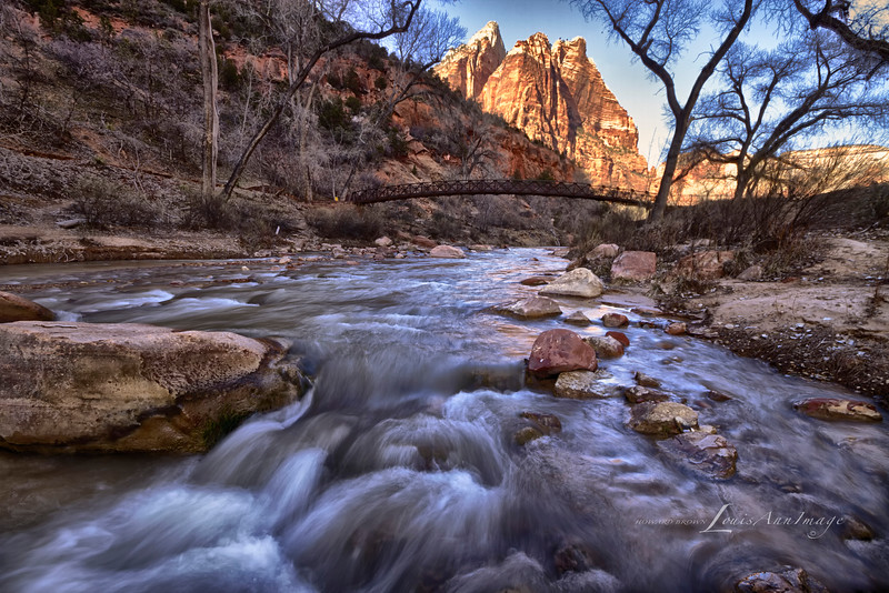 The North Fork of the Virgin River - Emerald Pools Trailhead, Zion National Park, Utah
