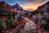 Somewhere in time...<br /> A winters eve ~ North Fork of the Virgin River, Zion National Park, Utah.