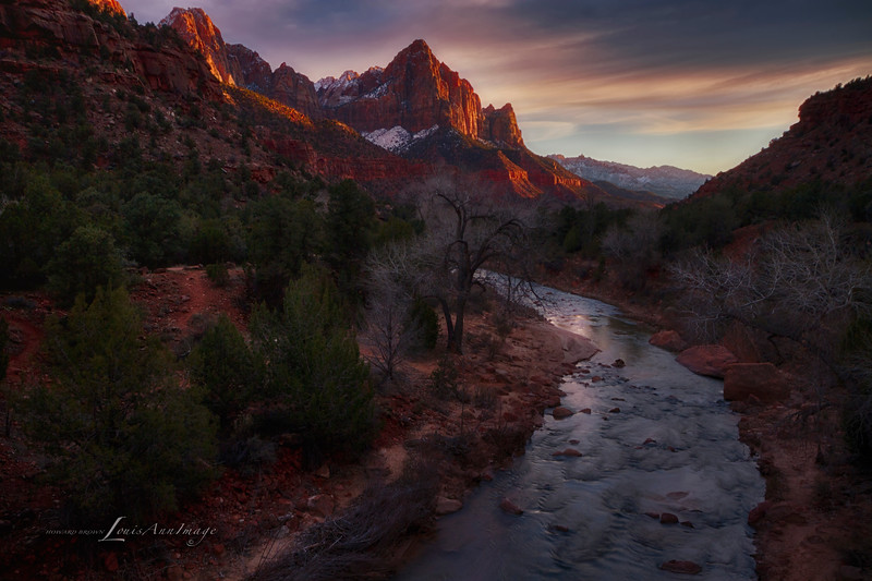 Last Light on the Watchman - Zion National Park, Utah.