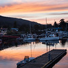 Sunset at Ganges Harbor, Salt Spring Island, Washington