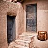Taos Pueblo (note workman on roof)