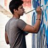 Painter, Beni More art school, Cienfuegos