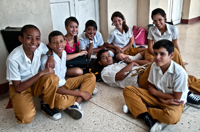 Happy students, Beni More art school, Cienfuegos