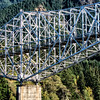 Railroad bridge over the Columbia near Astoria, Oregon