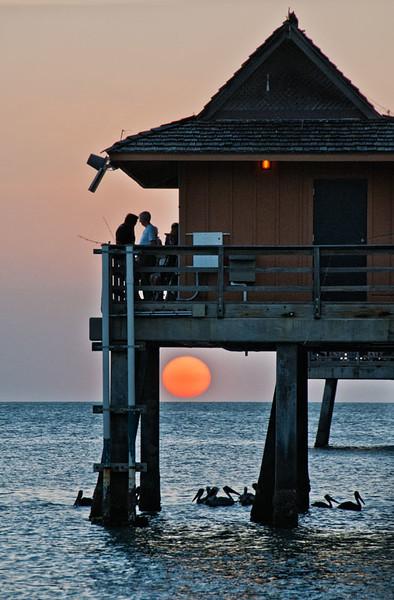 Sunset, Naples Pier