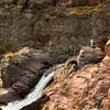Red Rock Falls, fisherman