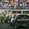 Demo derby, firemen at work