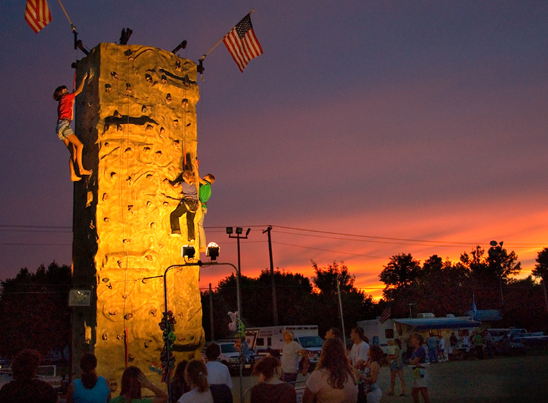 Rock climbers, Pipestone Co  Fair