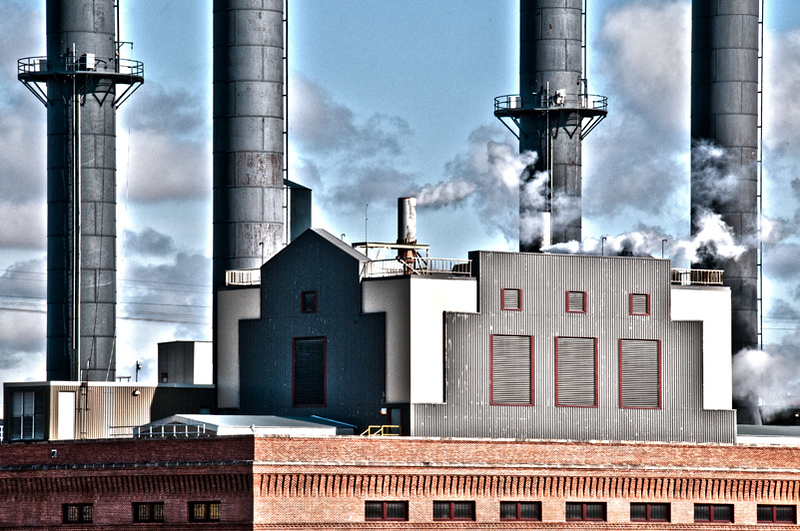 University of Minnesota steam plant on the Mississippi River in downtown Minneapolis