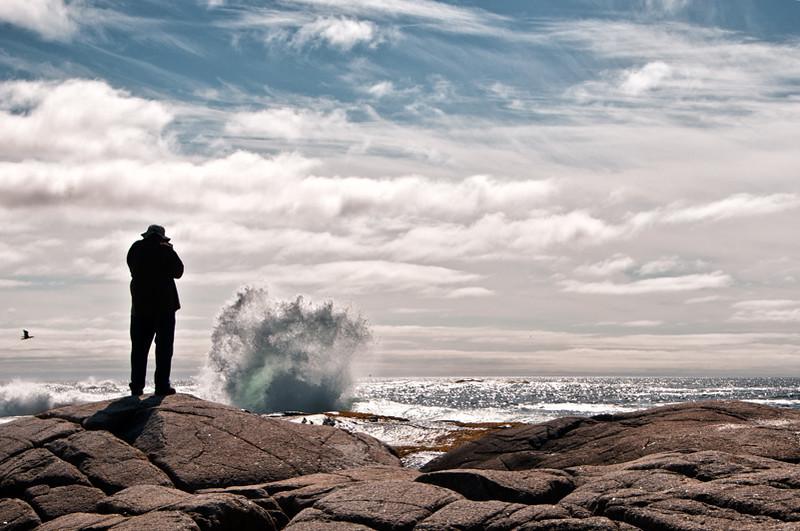 Photographer, Peggy's Cove, Nova Scotia