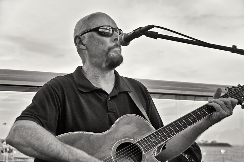 Musician at a Hampton Beach, New Hampshire restaurant
