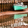 St. Martins, New Brunswick, harbor scene, low tide