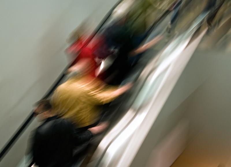 Museum of Modern Art, escalator