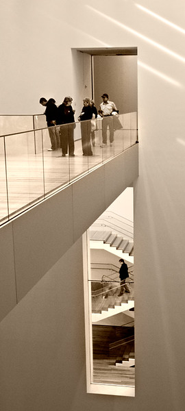 MOMA, stairway and balcony