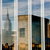 Reflections along High Line, including Empire State Building