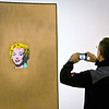 New York, Museum of Modern Art, capturing Marilyn Monroe (Andy Warhol painting)