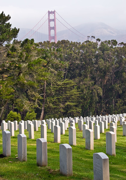 Golden Gate from National Cemetery, Presidio