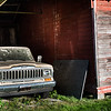 Old Jeep in an old barn