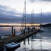 Sailboats at sunrise, Coupeville Pier
