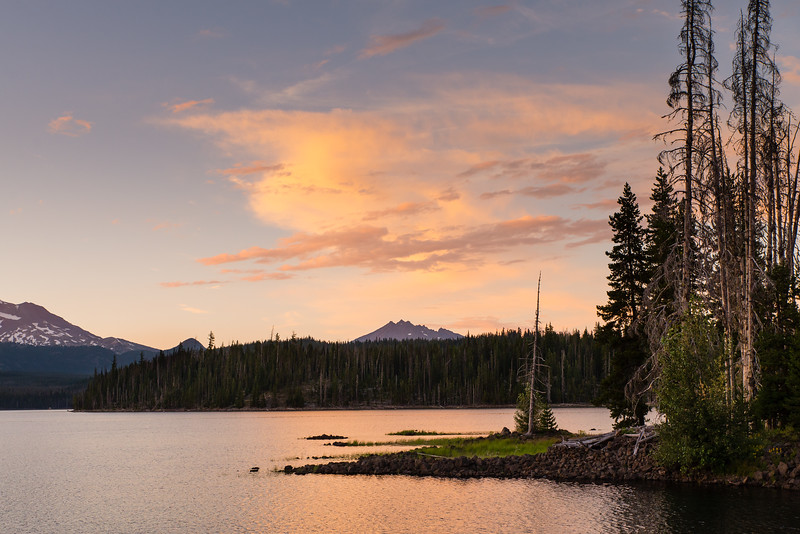 Lava Lake, Cascade Range, Oregon