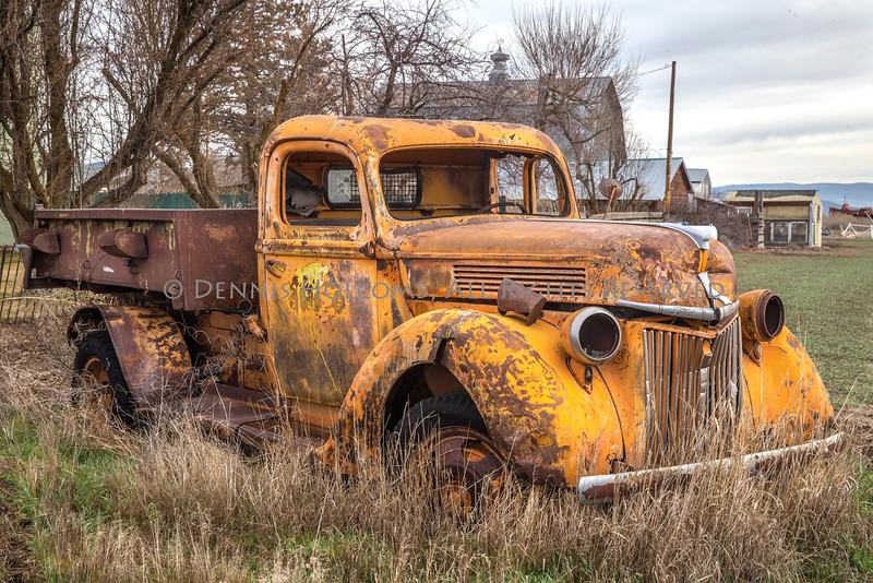 Rusticating Vintage Ford Light Duty Dump Truck