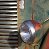 Rusticating Vinatage International Truck Headlight Detail