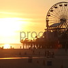 California sunset on the Los Angeles Pier