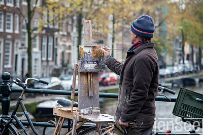 man painting | amsterdam