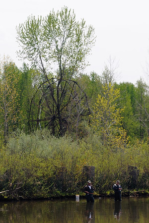 Fishermen and Ferris Wheel - Chippewa Lake Park