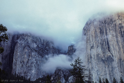 Yosemite Granite Walls in the Mist