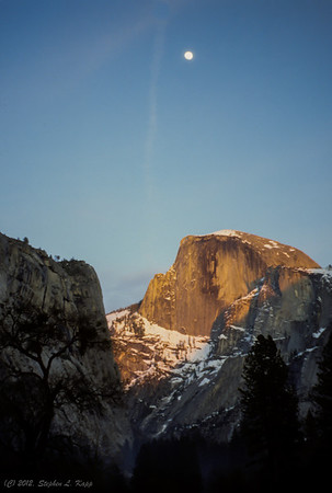 Moon over Half Dome