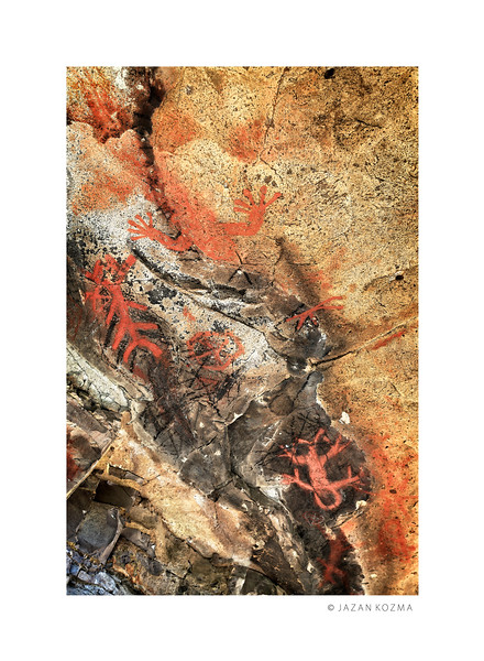 Chumash Pictograph Panel I - Santa Monica Mountains  -  CA-VEN-35