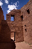 The unusual corner doorway may have been constructed to allow the sun to strike the opposite wall at certain times and seasons. Throughout Chaco Canyon architectural and landform features correspond with astronomical events such as the solstice. Astronomy was an integral part of Chacoan life and religion.