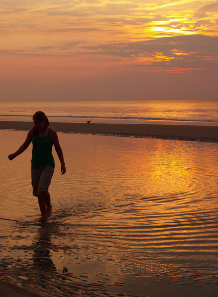 Lydia in Sunrise at Hunting Island
