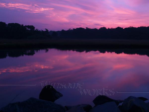 Weekapaug Violet Sunrise over Pond  -- Rhode Island