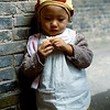 Little boy near the nursery school on our campus in Nanchong