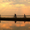Biking at sunrise; Hunting Island SP, SC