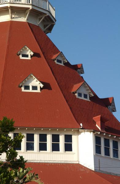 Detail of the Del Coronado hotel, San Diego