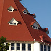 Detail of the Del Coronado hotel, San Diego