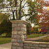 College Avenue entrance to Goshen College - Goshen, Indiana