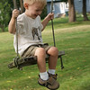 Logan on Yoders' swing