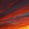 Brilliantly streaked November sky over Quakertown, PA