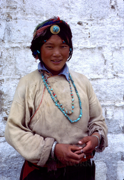 Young woman in Lhasa
