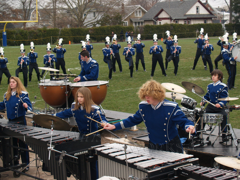 Seth with QCHS Band at Thanksgiving Day Game with Pennridge