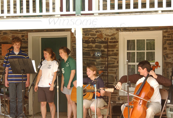 "Practice for the Ruth's Coffeehouse - ""Once"" (June 2009 -Seth, Emma, Anna, Lydia, Justin)"