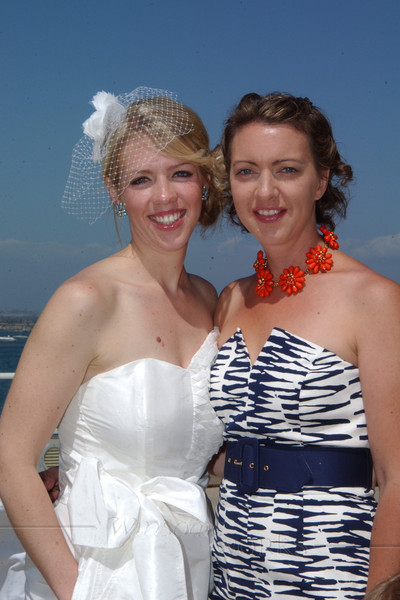 Chara and Bea during wedding reception - two of my beautiful sisters